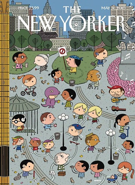The New Yorker Cover 06-01-2010: Union Square by Ivan Brunetti