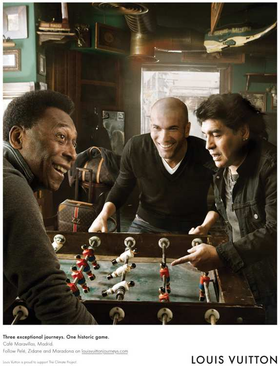 Pelé, Maradona and Zidane by Annie Leibovitz for Louis Vuitton